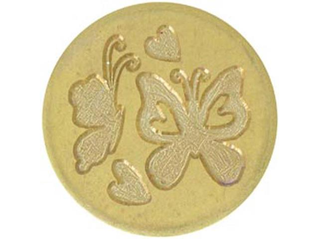 Large Decorative Seal Coin-Butterflies & Hearts