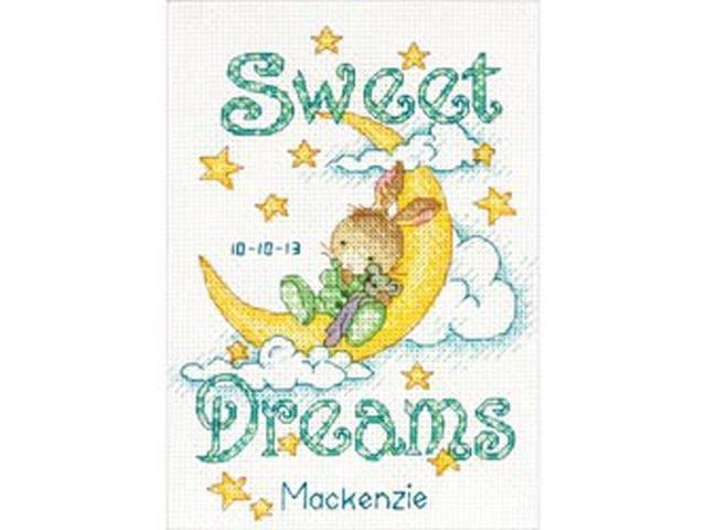 Sweet Dreams Birth Record Counted Cross Stitch Kit-5
