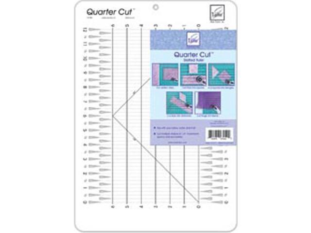 Quarter Cut Slotted Ruler-11-1/4