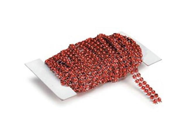 Bling On A Roll 3mm X 5yds-2 Row; Red