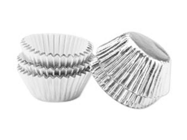Mini Baking Cups-Bon Bon-Silver Foil 36/Pkg
