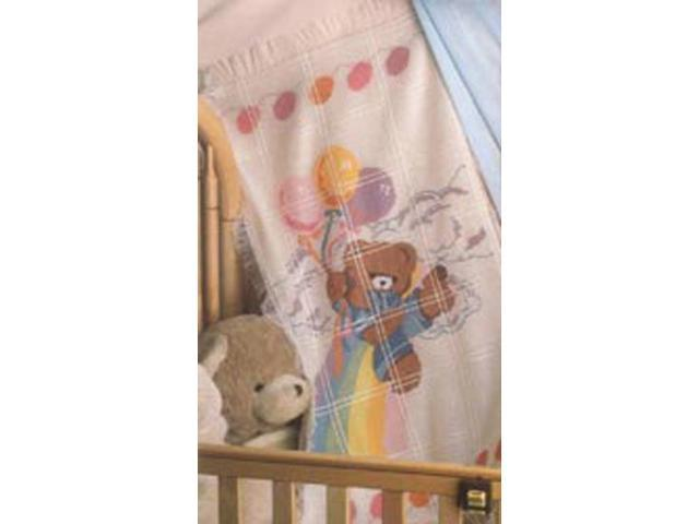 Bear And Balloons Baby Afghan Counted Cross Stitch Kit-29