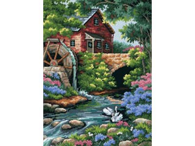 Old Mill Cottage Needlepoint Kit-12