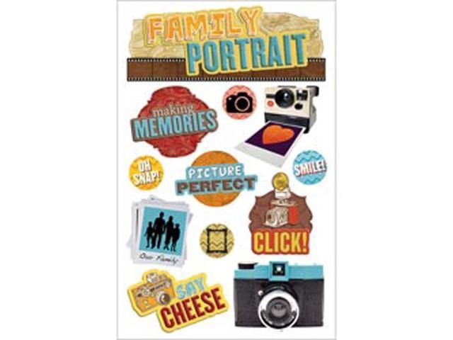 Paper House 3-D Sticker-Family Portrait