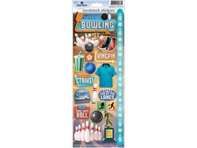 Paper House Cardstock Stickers-Let's Go Bowling