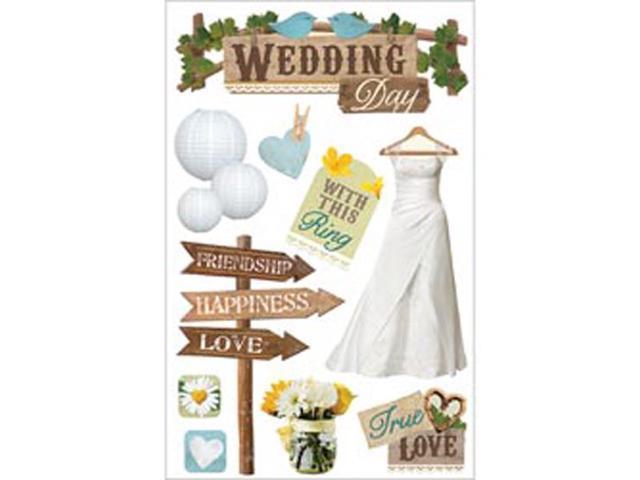 Paper House 3-D Sticker-Wedding