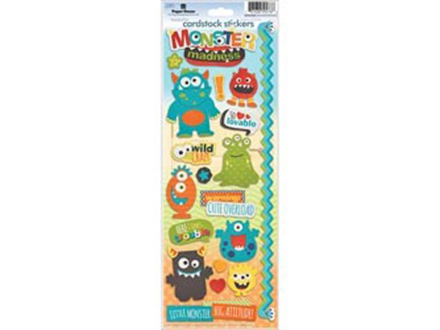 Paper House Cardstock Stickers-Monster Madness