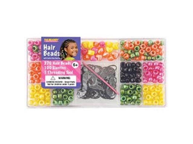 Large Hair Bead Box Kit-Bright Pearl