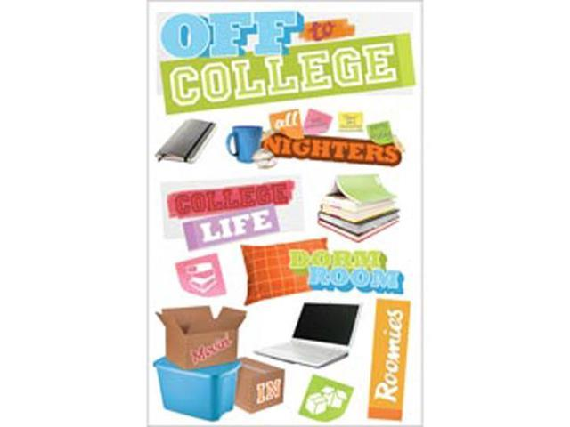 Paper House 3-D Sticker-Off To College