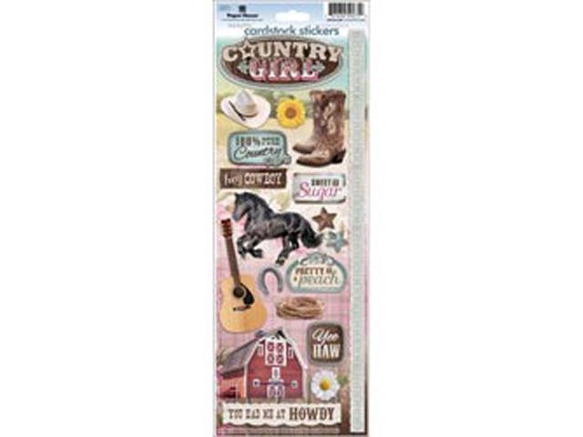 Paper House Cardstock Stickers-Country Girl