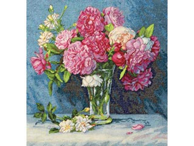 Gold Collection Mary's Bouquet Counted Cross Stitch Kit-12