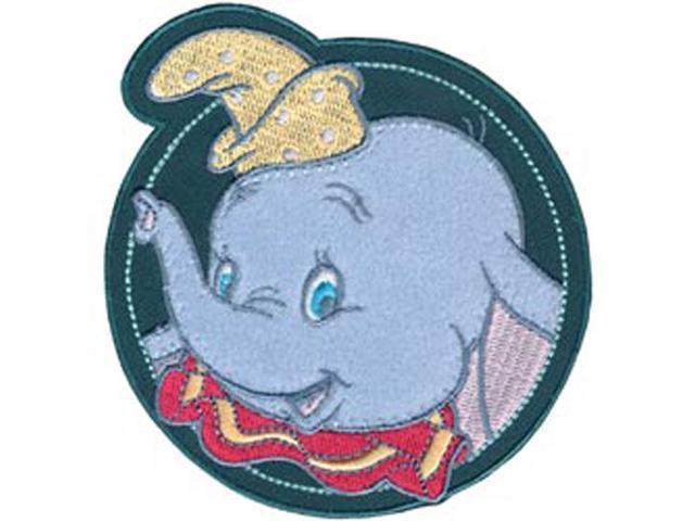 Disney Dumbo In Circle Iron-On Applique-