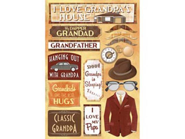 Grandpa Cardstock Stickers 5.5