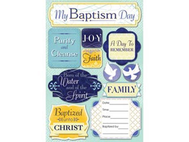 Baptism Cardstock Stickers 5.5