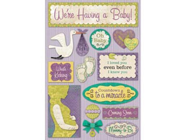 Maternity/Baby Shower Cardstock Stickers 5.5