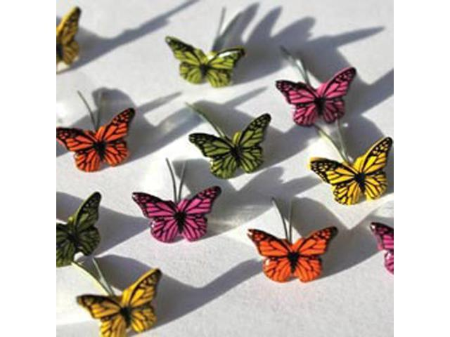 Eyelet Outlet Brads-Mini Butterfly 12/Pkg