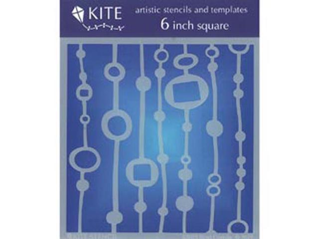 Judikins 6 Inch Square Kite Stencil-Bead Curtain