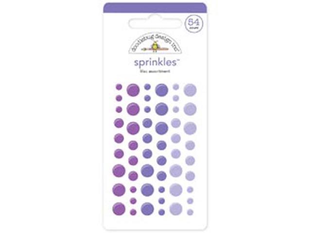 Monochromatic Sprinkles Glossy Enamel Sticker Dots 54/Pkg-Lilac