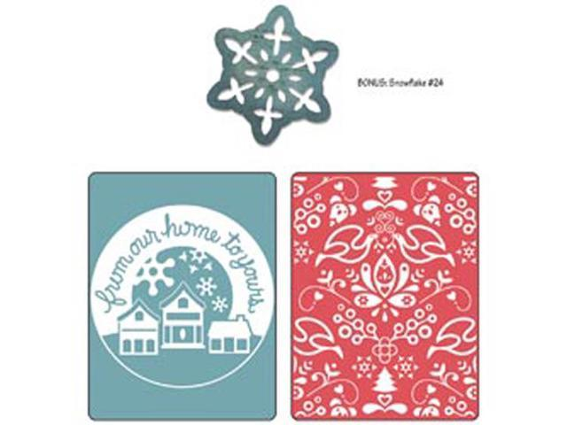 Sizzix Textured Impressions/Bonus Sizzlits By Basic Grey-Nordic Holiday From Our Home; Yule