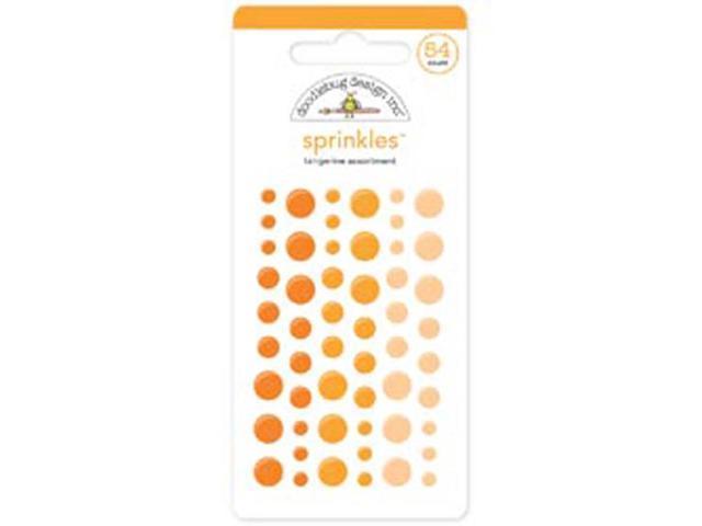 Monochromatic Sprinkles Glossy Enamel Sticker Dots 54/Pkg-Tangerine