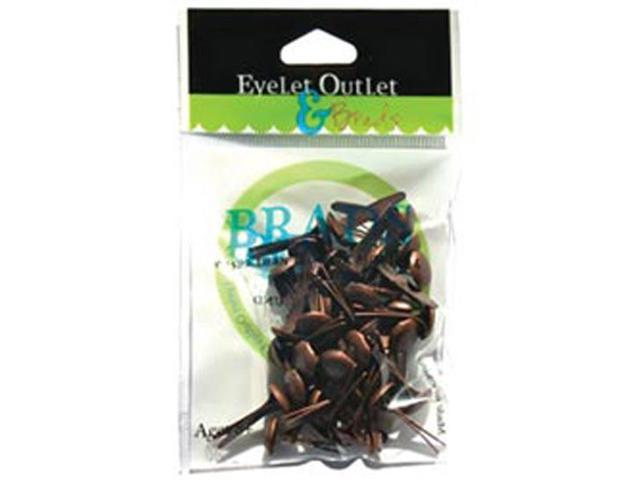 Eyelet Outlet 8mm Brads-Brushed Copper
