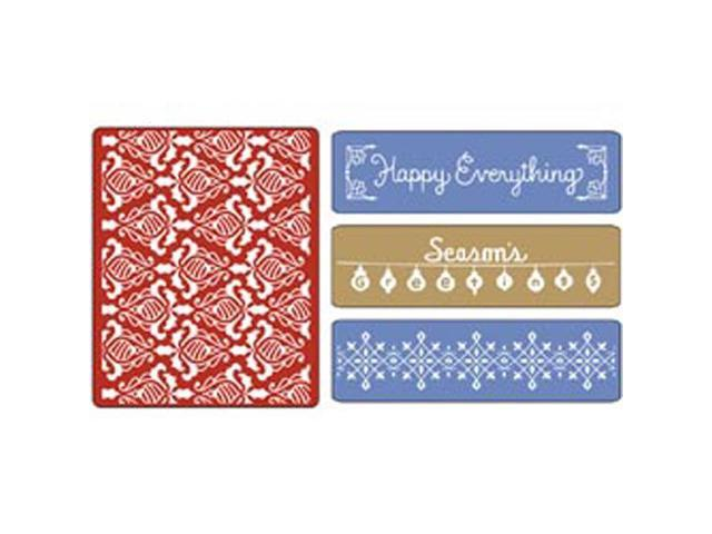Sizzix Textured Impressions Embossing Folders 4/Pkg-Holiday Damask