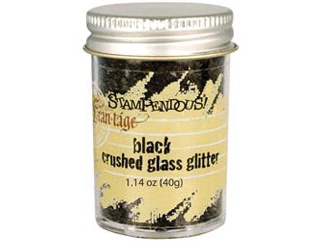 Stampendous Glass Glitter 1 Ounce-Black