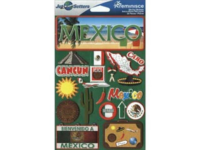 Jet Setters International Dimensional Stickers 4.5