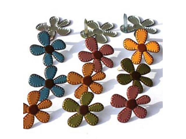 Eyelet Outlet Brads-Stitched Fall Flowers 12/Pkg