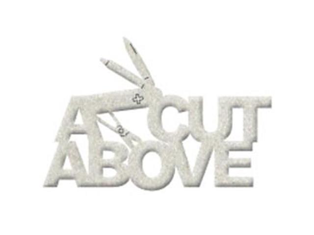Die-Cut Grey Chipboard Word-A Cut Above 4.6