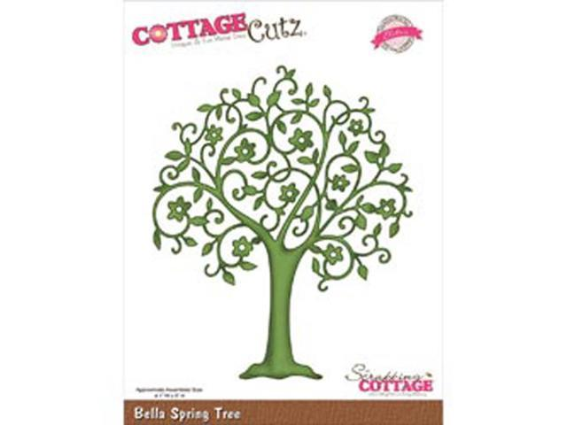 CottageCutz Elites Die-Bella Spring Tree