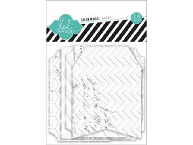 Color Magic Notes Resist Tags 18/Pkg-