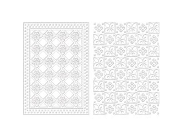 Spellbinders M-Bossabilities A4 Card Embossing Folder-Diamond Fleur De Lis