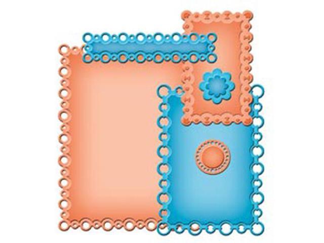 Spellbinders Nestabilities A2 Card Creator Dies-Pearl Effects
