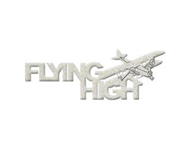 Die-Cut Grey Chipboard Word-Flying High 6.5