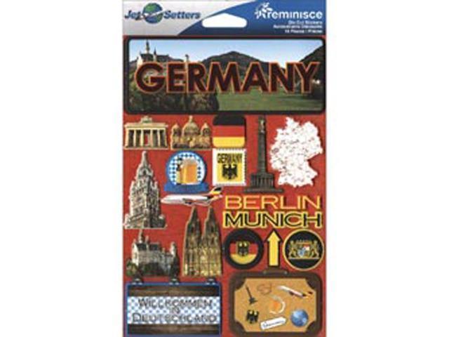 Jet Setters International Dimensional Stickers 4.5