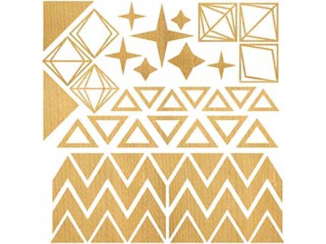 Darling Dear Laser-Cut Wood Veneer Shapes-Triangles & Diamonds