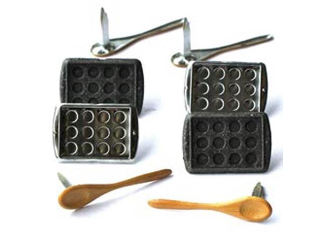 Eyelet Outlet Brads-Baking 12/Pkg