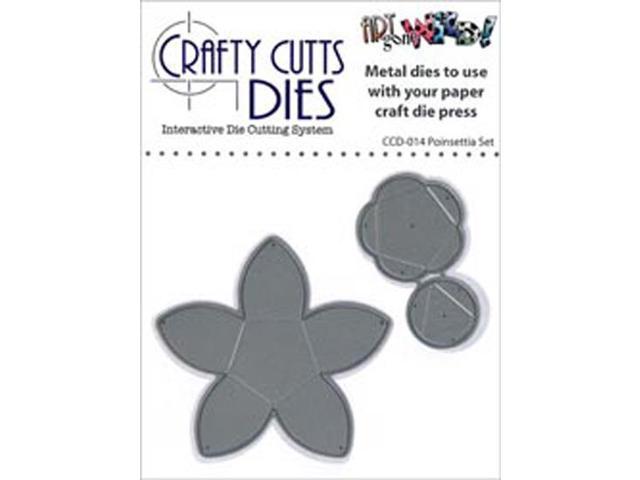 Crafty Cuts Metal Die-Poinsettia Set