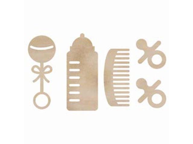 Wood Flourishes-Baby Pack 5/Pkg