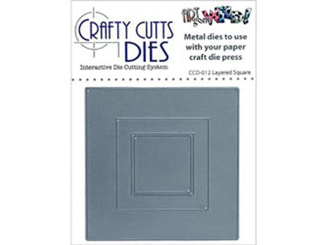 Crafty Cuts Metal Die-Layered Square