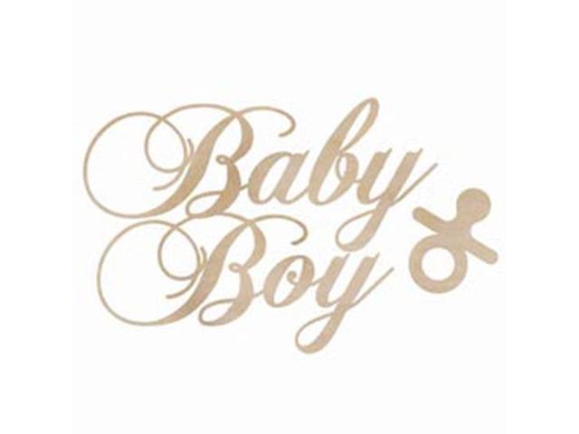 Wood Flourishes-Baby Boy 2/Pkg