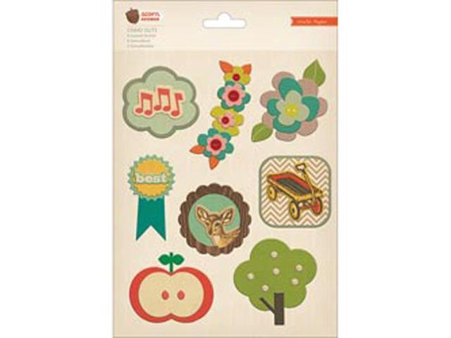 Acorn Avenue Stand Outs Layered Stickers 8/Pkg-Icons