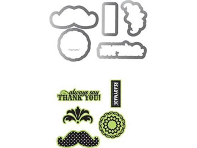 Sizzix Framelits Dies 5/Pkg With Clear Stamps By Echo Park-Times & Seasons #2