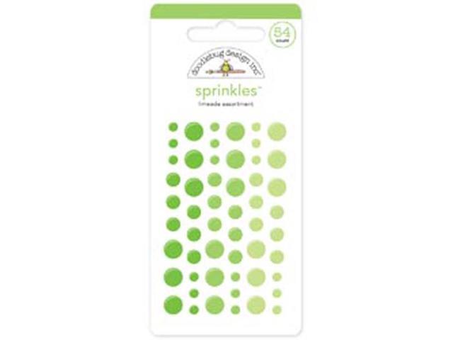 Monochromatic Sprinkles Glossy Enamel Sticker Dots 54/Pkg-Limeade