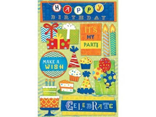 Birthday Cardstock Stickers 5.5