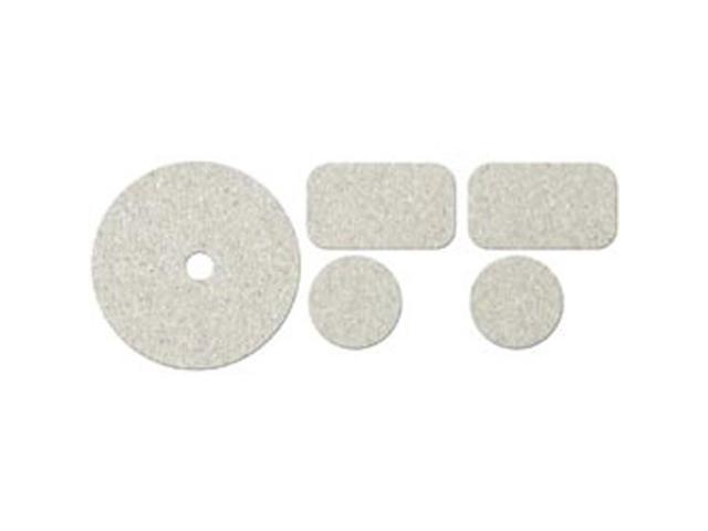 Die-Cut Grey Chipboard Embellishments-CD/Dog Tags/Medal Rounds 5/Pkg; To 3.7