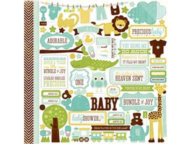 Bundle Of Joy Boy Cardstock Stickers 12
