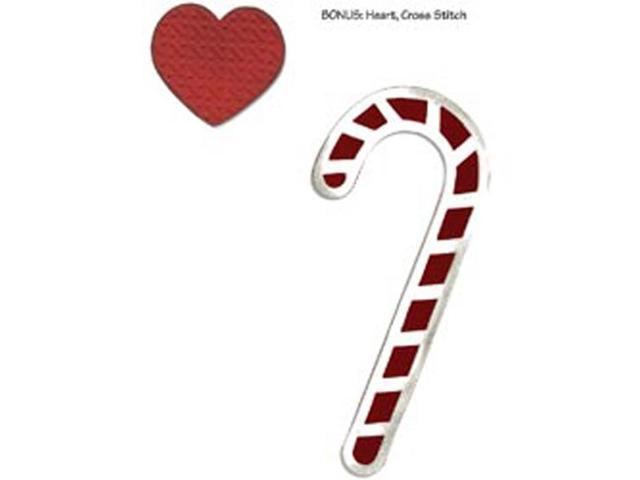 Sizzix Bigz With Bonus Embosslits Die By Basic Grey-Nordic Holiday Candy Canes; Heart