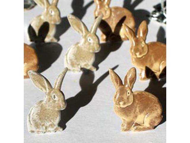Eyelet Outlet Brads-Rabbits Brown